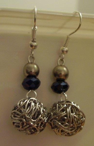 Orecchini perla intrecciata
