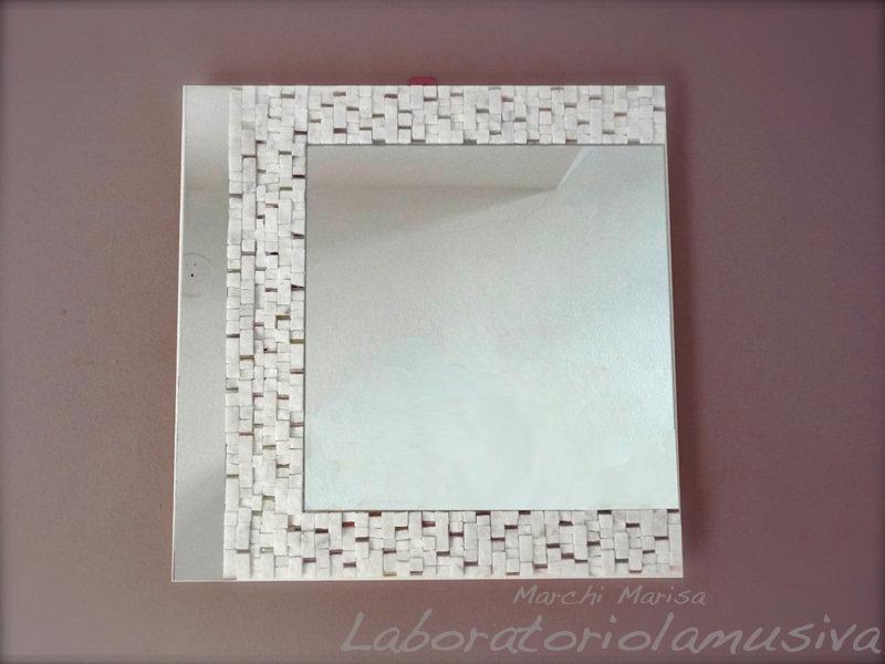 Specchiera White Marble