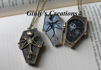Collana orologio apribile Bara di Jack Skeletron NIGHTMARE BEFORE CHRISTMAS gothic style steampunk