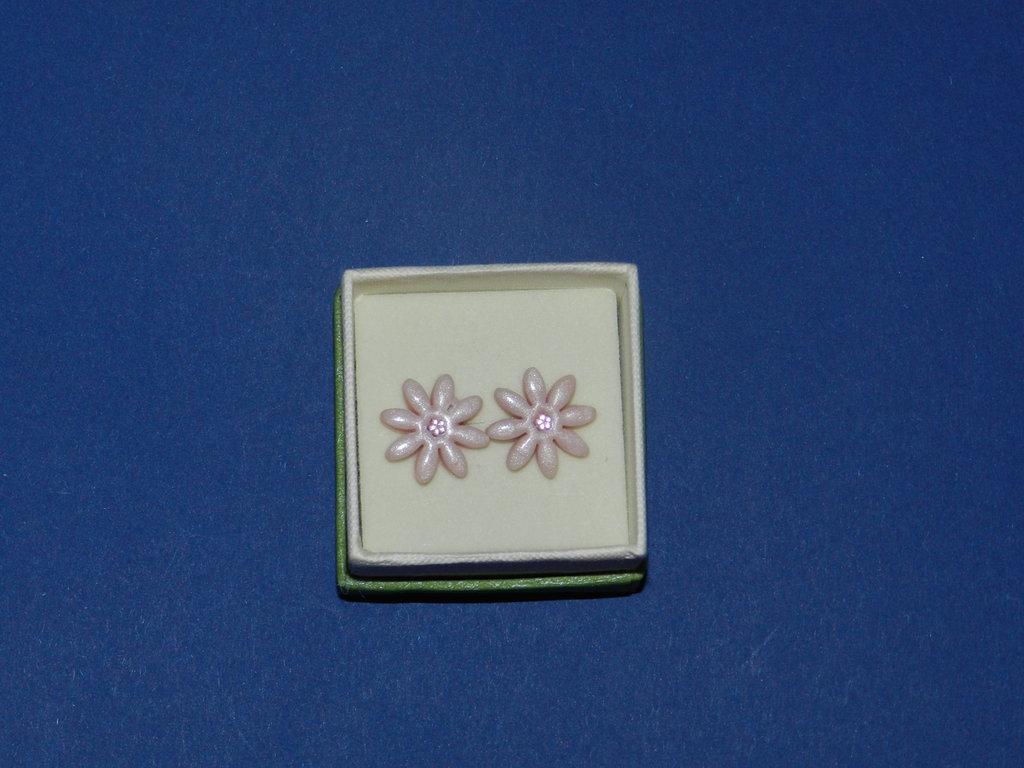 Orecchini margherite rosa