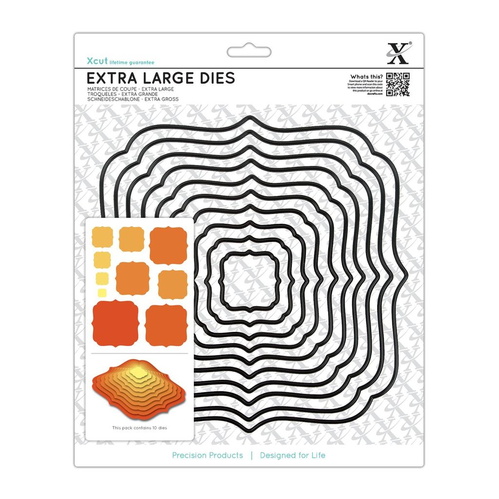 Set fustelle XCut Extra Large - Square Parenthesis