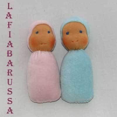 mini bambola waldorf, tascabile