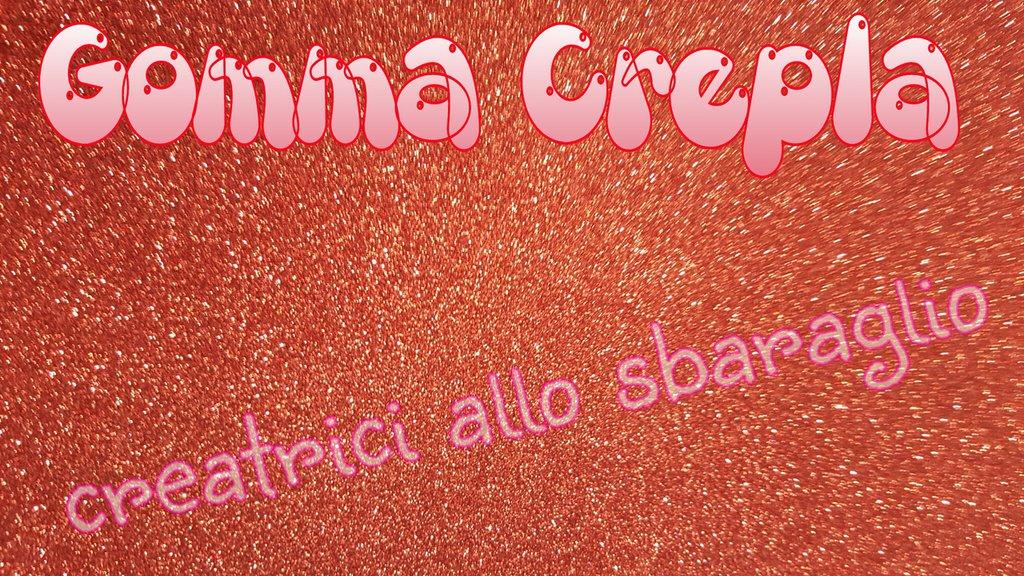 Gomma Crepla Glitter ROSSO Formato 40 cm * 60 cm