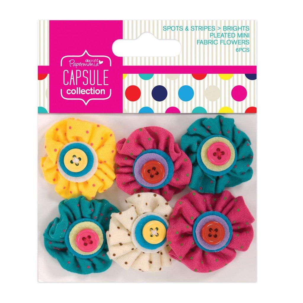 Mix 6 fiori in stoffa  - Spots & Stripes Brights