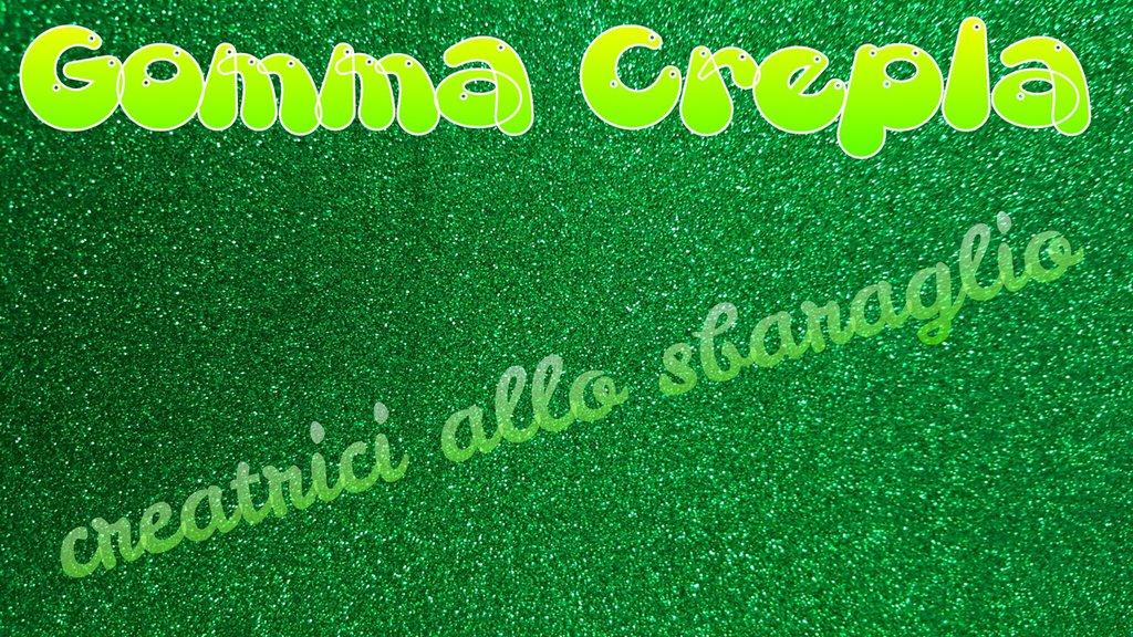 Gomma Crepla GLITTER VERDE formato 40 x 60