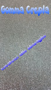 Gomma Crepla Glitter ARGENTO  Formato 40 cm * 60 cm