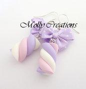 Orecchini Marshmallow in Fimo