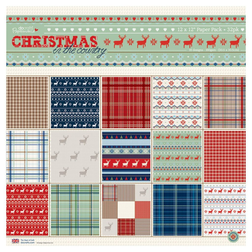 Blocco di carta 30x30 cm - Christmas in the Country