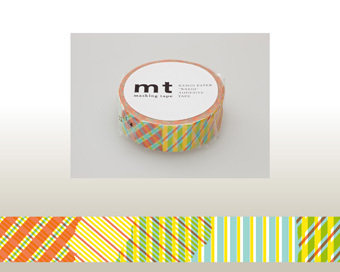 Washi Tape - Stripe-checked Red