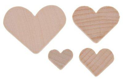 Mix 10 cuori in legno