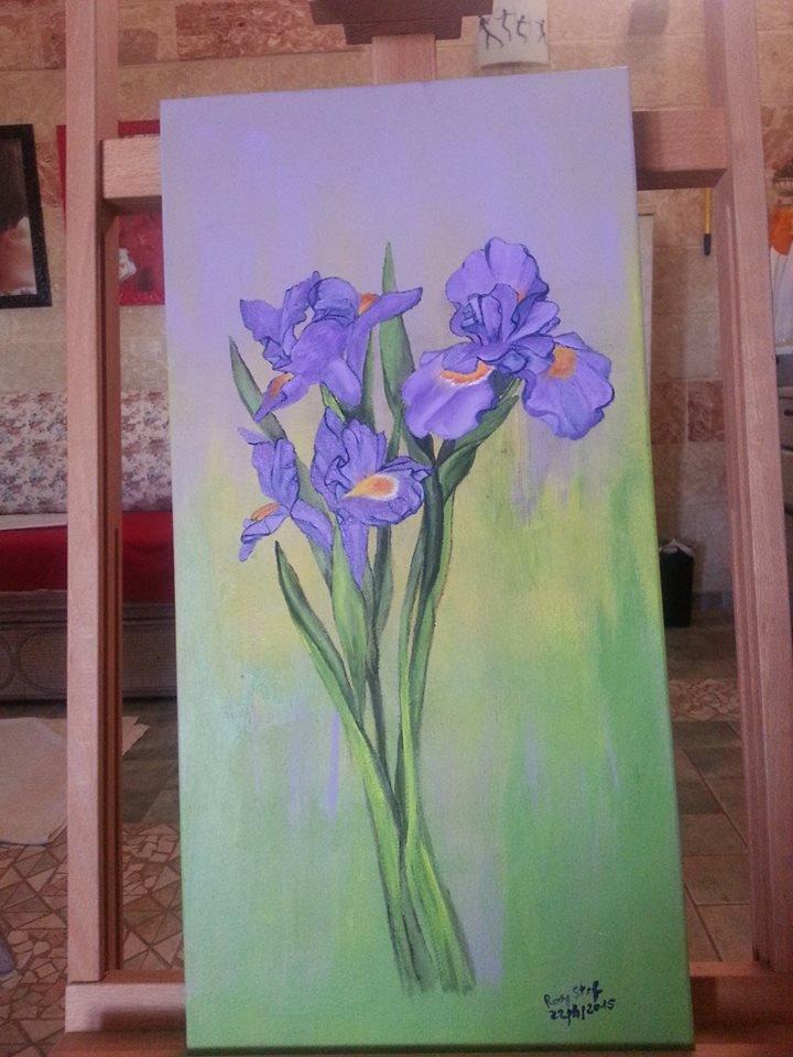 fiori su tela
