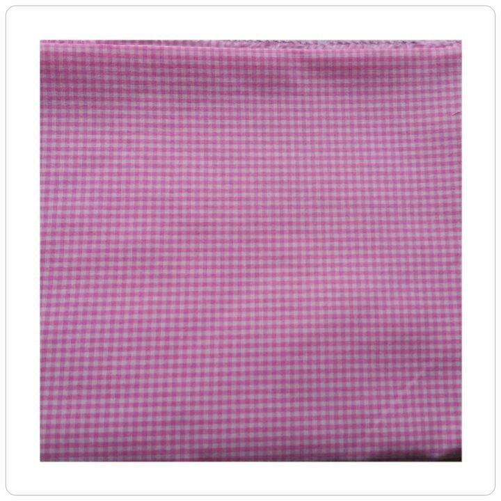 stoffa quadretti rosa