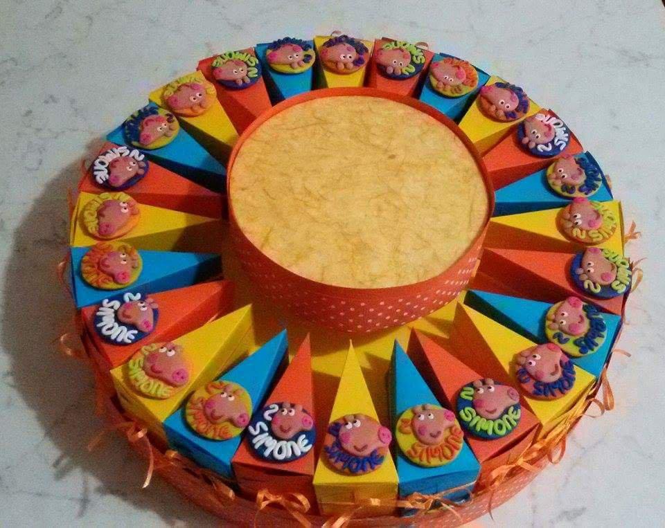 Torta bomboniera Bimbo Peppa Pig