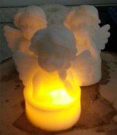 Candela in cera con LED - Angelo