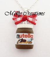 Collana barattolo di Nutella in Fimo