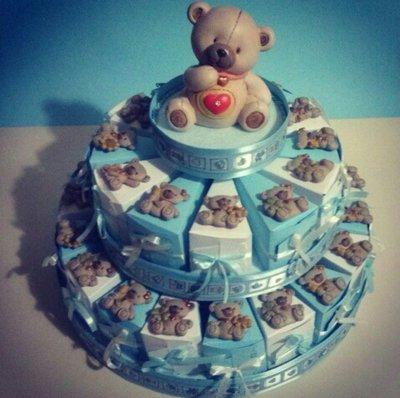 Torta bomboniera Battesimo Nascita