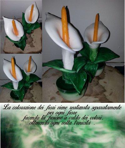 Candela a fiore - Calla