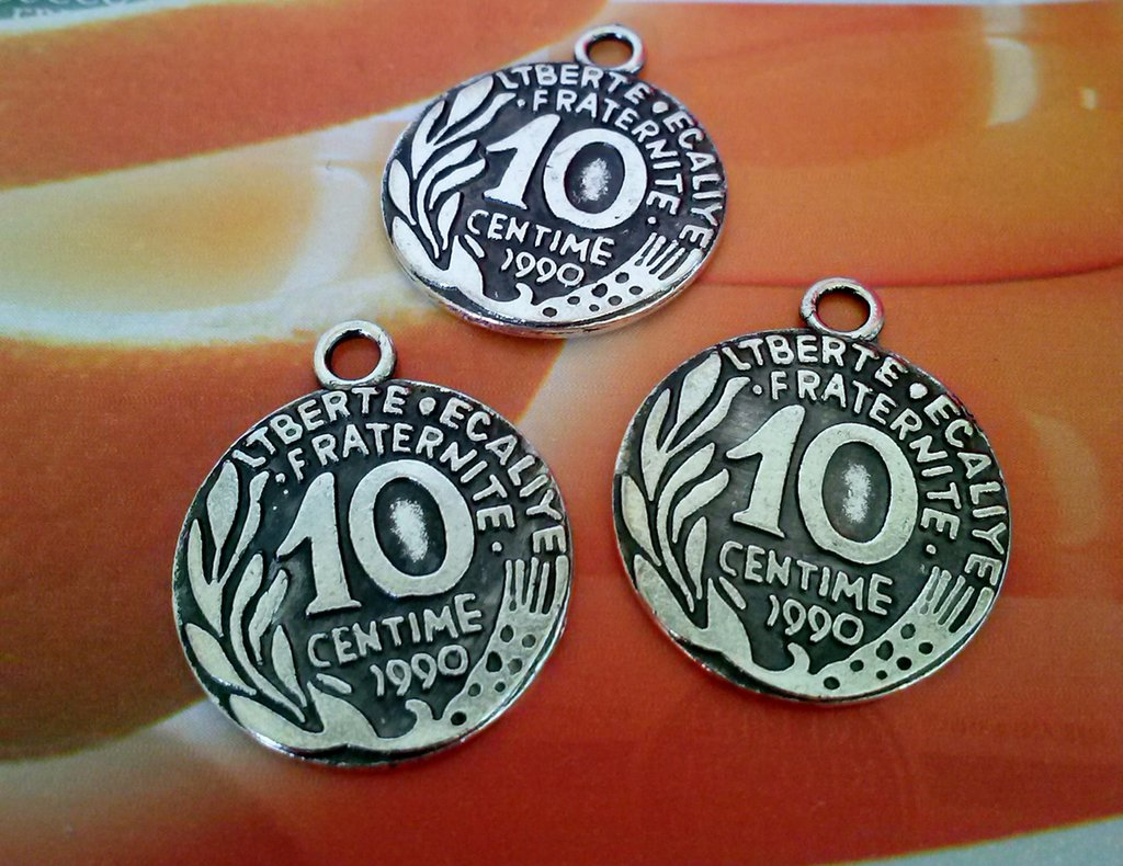 charms MONETA in argento 10 cent  – HOBBY CREATIVI