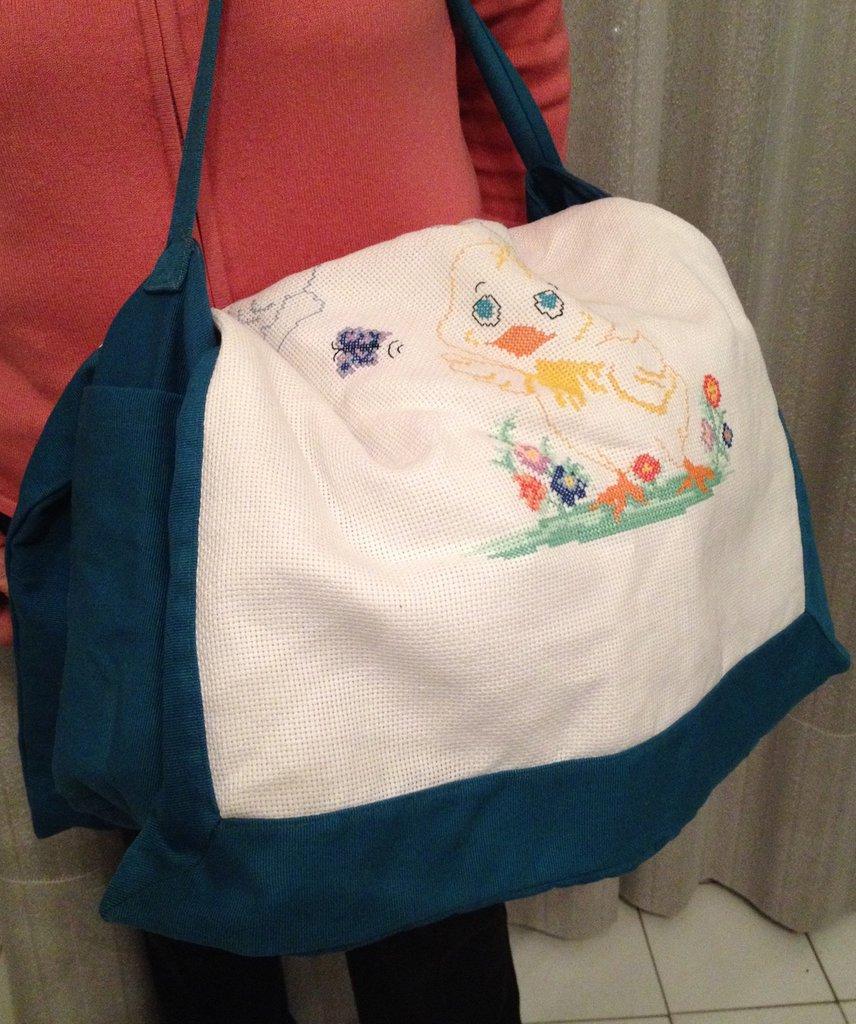 Borsone/fasciatoio con tracolla per necessaire da viaggio bebè