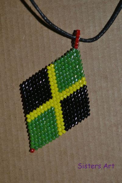 Collana Giamaica realizzata a peyote con perline Miyuki delica