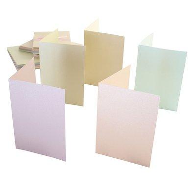 Set 50 carte e buste - Pastel Pearlescent