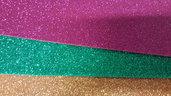 kit da 10 fogli A4 GOMMA CREPLA GLITTER colori misti