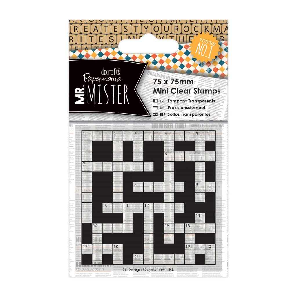 Clear Stamps - Mr Mister Crossword