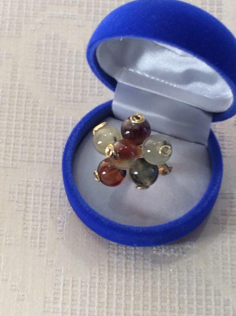 """Anello wire argento indiano e prehnite """"uva"""""""