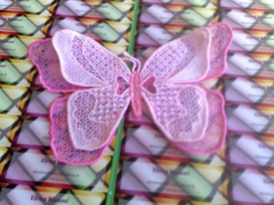 Farfalla 3D rosa o azzurra