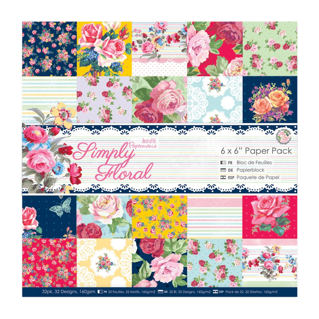 Blocco di carta 15x15 cm - Simply Floral
