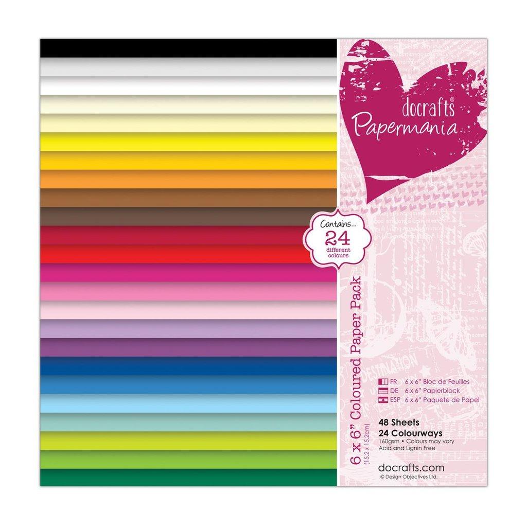 Blocco di carta colorata 15x15 cm
