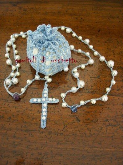 Rosari con sacchetto custodia