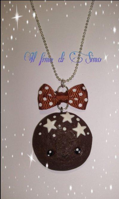 collana biscotto con stelle kawaii in fimo