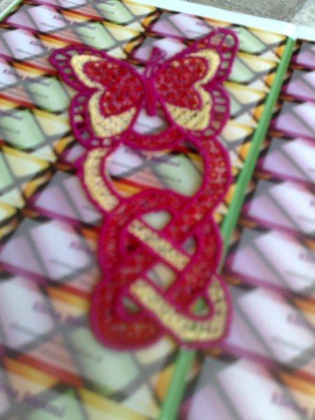 Segnalibro con Farfalla in Lace