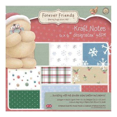 Designstaz 15x15 cm - Christmas Kraft Notes