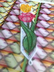 Segnalibro con Tulipano e Rosa