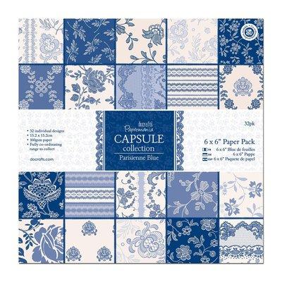 Blocco di carta 15x15 cm - Parisienne Blue