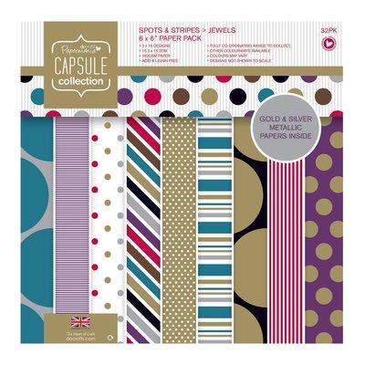 Blocco di carta 15x15 cm - Spots & Stripes Jewels