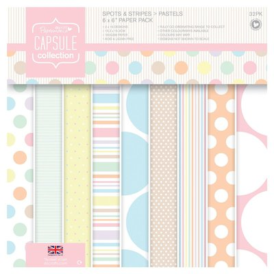 Blocco di carta 15x15 cm - Spots & Stripes Pastels