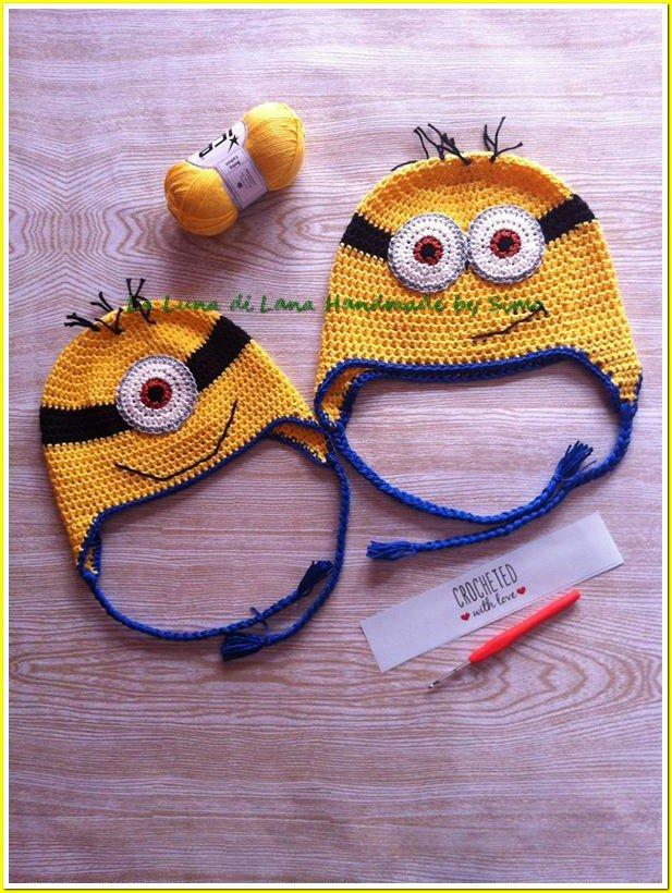 Cappellino a uncinetto per bambini a forma di Minion Cattivissimo Me 2c82eb824950