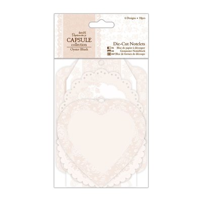 Die-cut Notelets - Oyster Blush