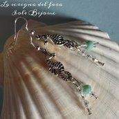 Orecchini cavalluccio marino con cristalli luccicanti