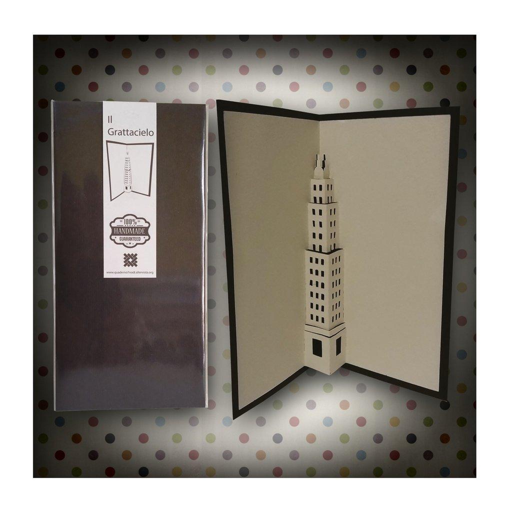 Biglietto Kirigami artigianale 7 Nodi Grattacielo