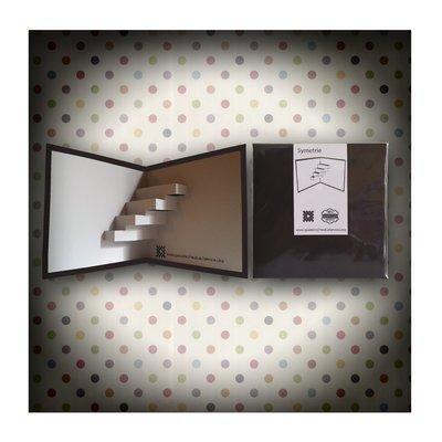 Biglietto Kirigami artigianale 7 Nodi Symetrie