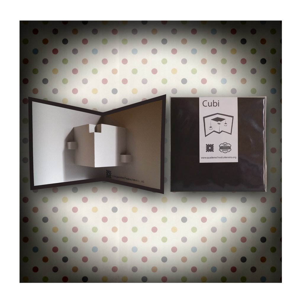 Biglietto Kirigami artigianale 7 Nodi Cubi