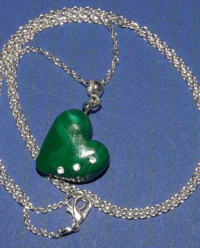 collana cuore verde