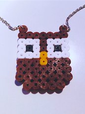 Catenina con gufetto saggio portafortuna in hama beads
