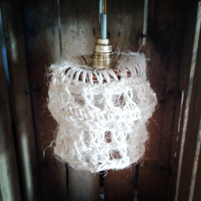 Lampade in spago e corda lavorate a uncinetto - Per la casa e per ...  su Mi...