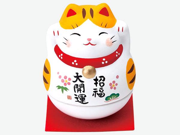 Maneki Neko dondolo gatto tigrato