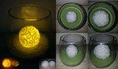 Candela in cera a led - Palla rose media - Wax luminary candle